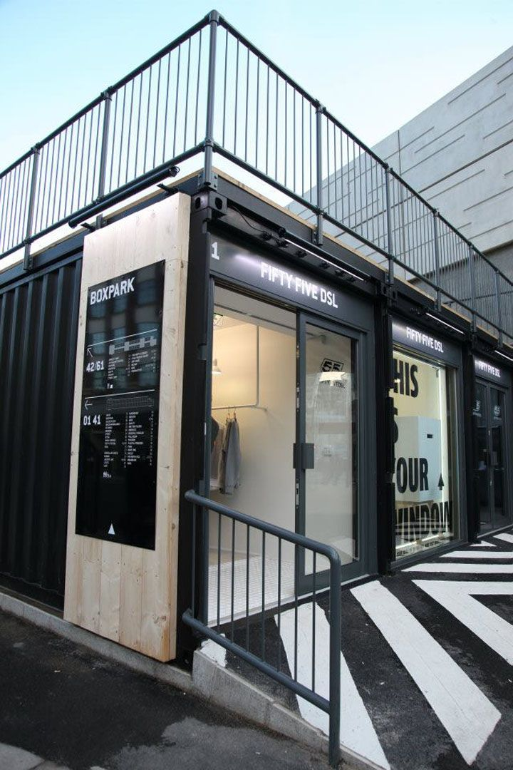 BOXPARK by Roger Wade, Shoreditch London store design eco
