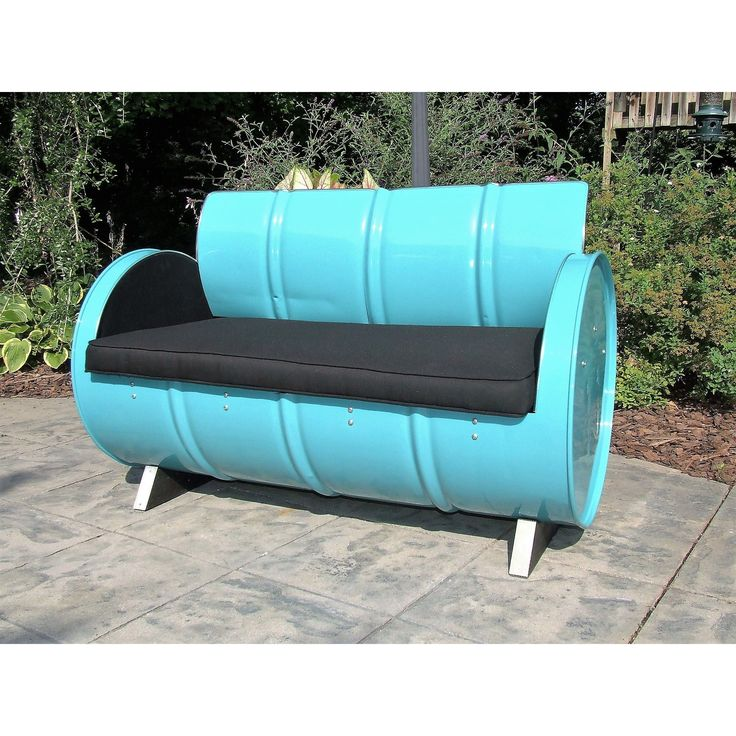 Stormy Mountain Indoor/Outdoor Loveseat (Turquoise, Black), Patio Furniture (Steel)