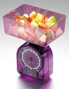 Kitchen Craft Colourworks Diet Scale - Purple by Kitchen Craft. $10.00. Sold individually. Colour/Pattern: Translucent purple. Capacity: 16 ounces/500 grams. This brightly-coloured scale delivers contemporary style to any kitchen. The easy-to-read scale.... This brightly-coloured scale delivers contemporary style to any kitchen. The easy-to-read scale is ideal for weighing small quantities of food for dietary or medical reasons and for weighing baby foods. The acrylic weighi...