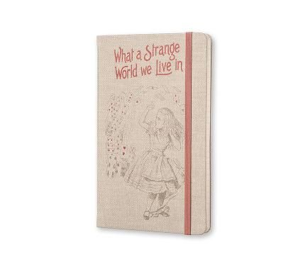 Limited Edition Notebook Alice - Ruled - Large - Hard Cover Canvas - Only in Moleskine Stores