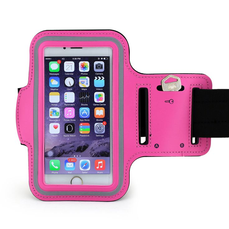 """ZTE """"ZMAX Pro"""" Pink Neoprene Adjustable Sports Arm Band with Velcro Band & Reflective Strip for Gym & Workouts, Washable & Breathable. MOST ORDERS SHIP WITHIN 24 HOURS AND ARRIVE IN 3 TO 5 BUSINESS DAYS WITH STANDARD SHIPPING. Washable and Breathable Material made of comfortable & secure breathable neoprene. Comfortable & Stretchable armband is adjustable to your liking, approx 12"""" long. Keeps your phone in place while exercising, reflective strip around phone for night time use. High..."""