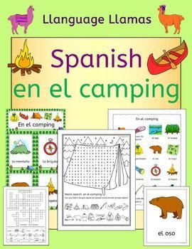 Spanish Camping Summer Resource Pack by Llanguage Llamas | Teachers Pay Teachers