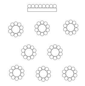 blank wedding seating chart