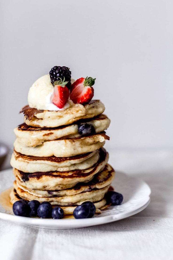 Lemon, Blueberry and Ricotta Pancakes