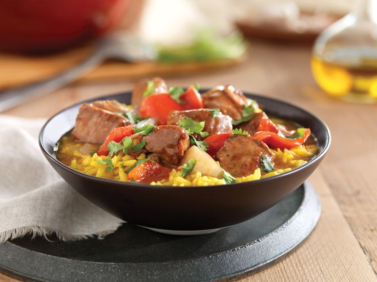 Spanish Pork and Fennel Stew with Saffron Rice - Pork Recipes - Pork Be Inspired