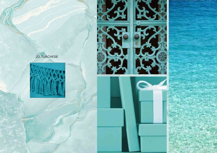 The sea color...discover our turquoise accessories  and...relax! #colorschart #marinafinzi