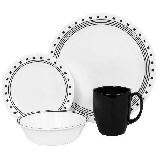 Corelle® Livingware™ 16pc Dinnerware Set City Block : Target