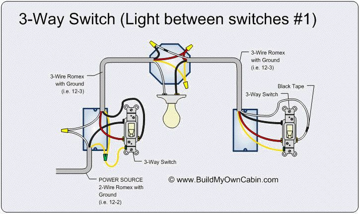 2-way light switch diagram | last edited by pattenp 04 11 ... 3 wire power from 1 switch to 2 lights diagram