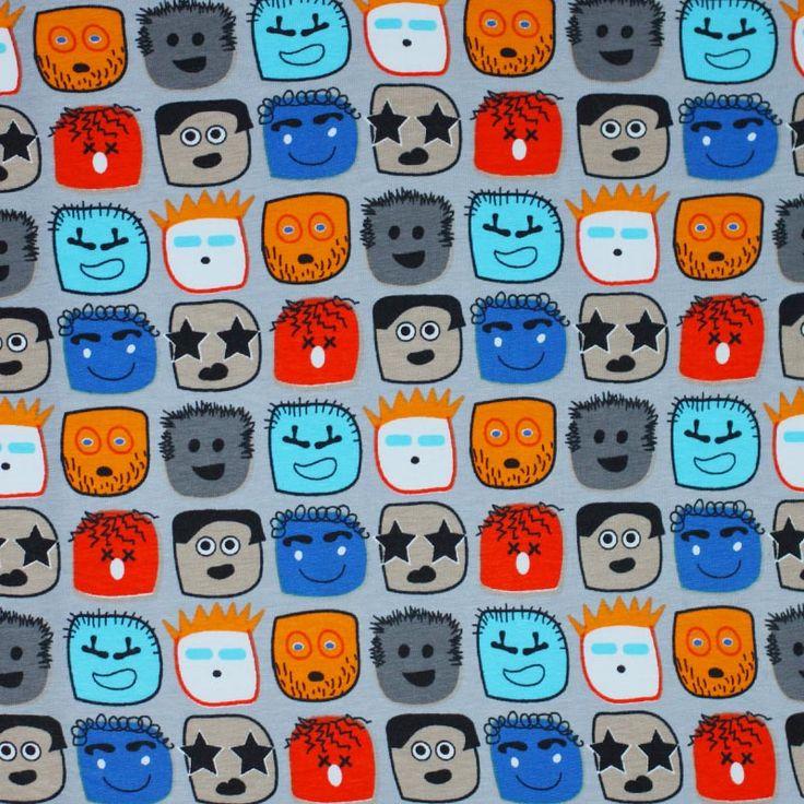 # Jersey # http://www.rijstextiles.com/de/kinderstoff-jersey-cartoon-gesichter-grau.html