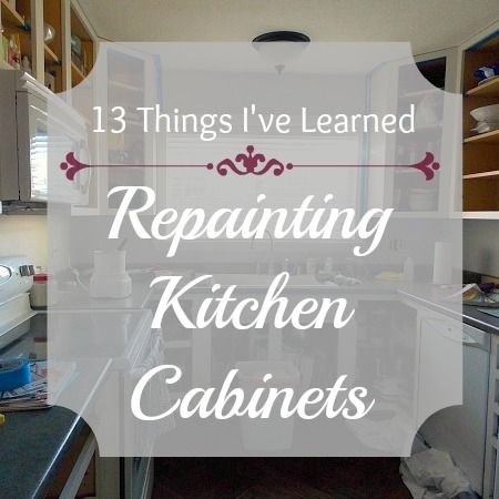 I'm halfway through painting my kitchen cabinets, and I thought I'd take a little break to update you and share a few things I've learned along the way.