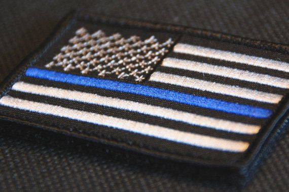 Tactical Police law enforcement Thin Blue Line by TacticalTextile, $4.25