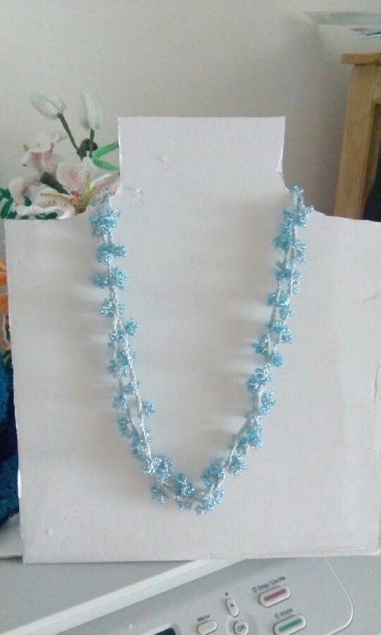 Collana corallo versione azzurra