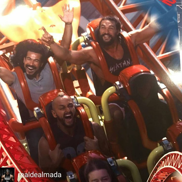 @Regrann from @realdealmada - Why are @prideofgypsies and @normontesmvj smiling while I'm screaming for my life?? 🤔😂 This was one CRAZY roller coaster…. we loved it so much we did it twice!! You're...
