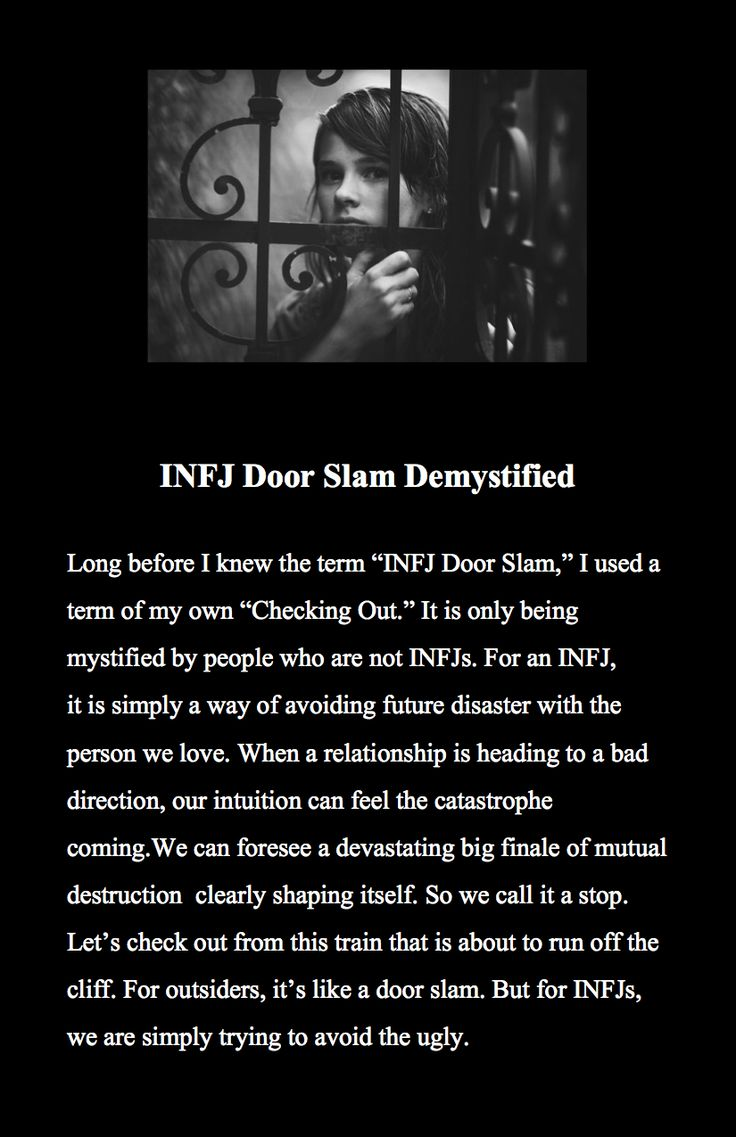 INFJ door slam demystified