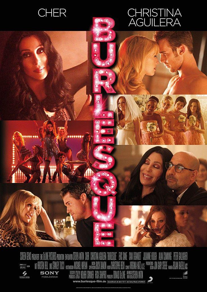 Burlesque (2010) starring Cher & Christina Aguilera