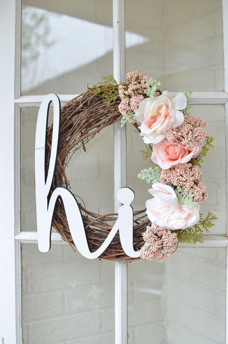 Diy Summer Wreath For Your Front Porch Summer Diy Diy Wreath