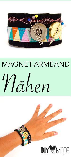Magnet-Armband für Stecknadeln nähen / Kostenlose Video-Anleitung von DIY MODE
