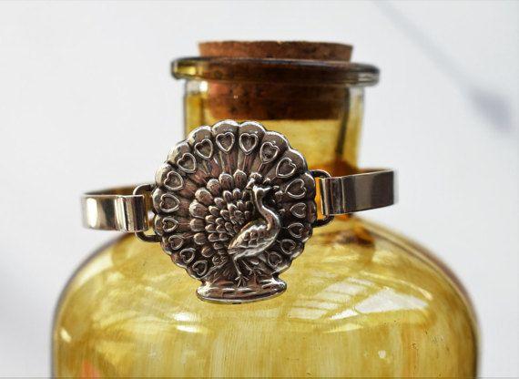 Rare Vintage Art Nouveau Silver Bracelet By by PrettyDifferentShop
