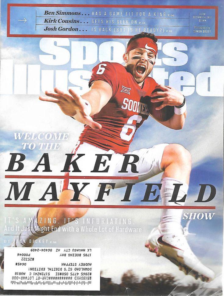 December 4 2017 Baker Mayfield Oklahoma Sooners Sports Illustrated Magazine  #Doesnotapply