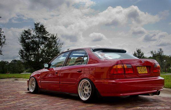 Slammed Civic Si   FS: 97 honda civic /00 front n rear conversion/ slammed/ b series-18-m ...
