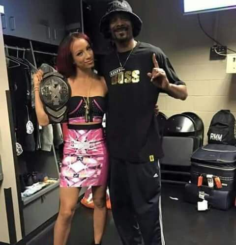 """Anytime he'd come to a wrestling show, I'd beg him to take me... He took me to WrestleMania when I was 16 and I swear to God I thought I was gonna get signed."" –Sasha Banks on her cousin Snoop Dogg and aspirations of becoming a WWE star; Talk is Jericho #168 (8/12/15)"