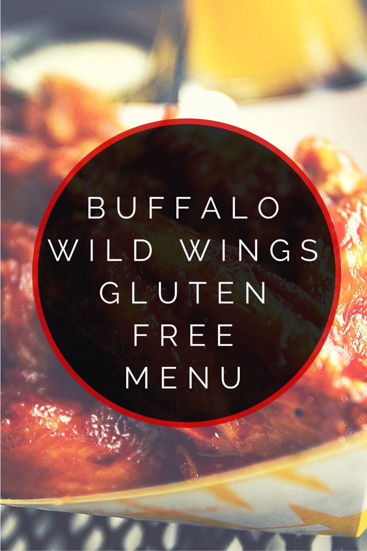 Buffalo Wild Wings Gluten Free Menu #glutenfree