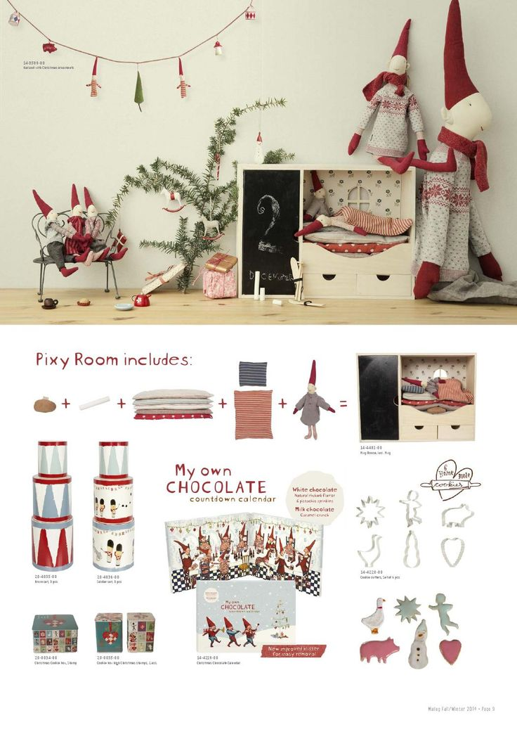 Maileg Christmas pixie room