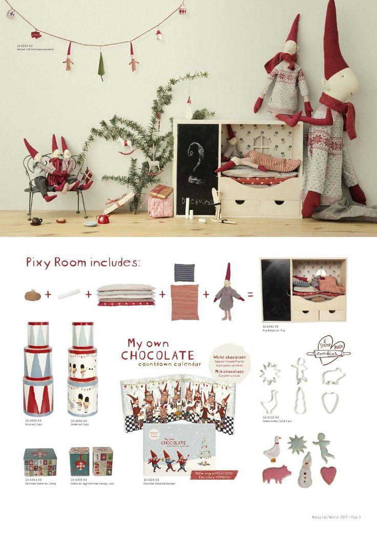 Maileg Christmas pixie room