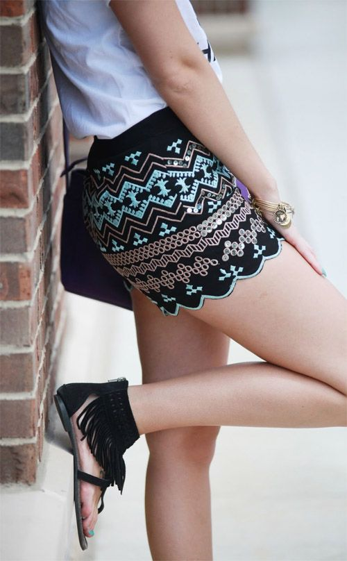 sequins shorts. #cute