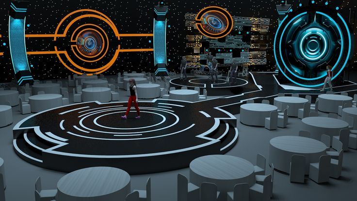Futuristic Stage Concept on Behance