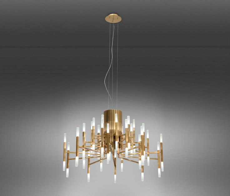 Clearly inspired by modern lighting of the 70s, we wanted to make a new version of a chandelier but implementing LED lighting, creating a luminaire with..