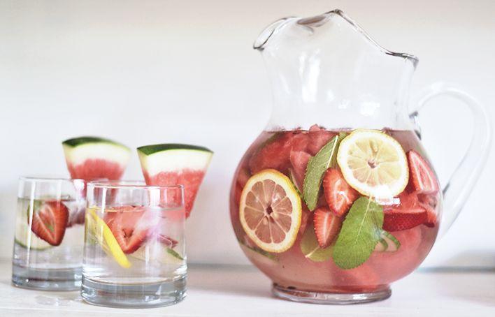 detox water watermelon recipe flavoured water mint water