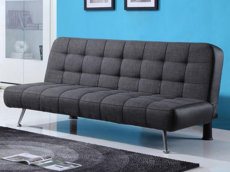 Craquez pour ce canapé clic-clac MURNI et son pouf simple, extrêmement pratique et design !