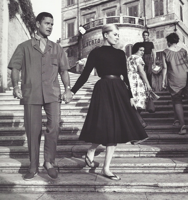 Anita Ekberg et Anthony Steel, Rome