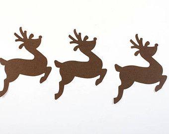 Troquelados 20 Reno de Navidad, Navidad troquelados, renos decoración, Scrapbook, Adorno, vacaciones, decoración de Navidad, tarjeta de decisiones