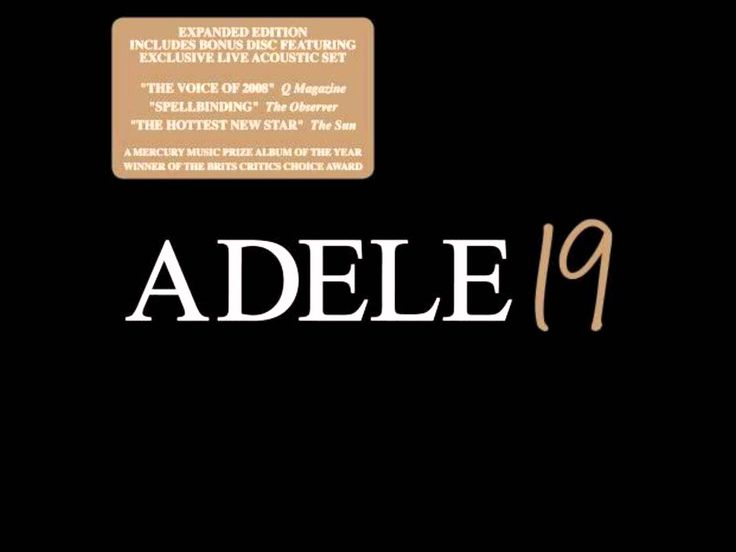 Adele 19 [Deluxe Edition] (CD1) - 07. First Love
