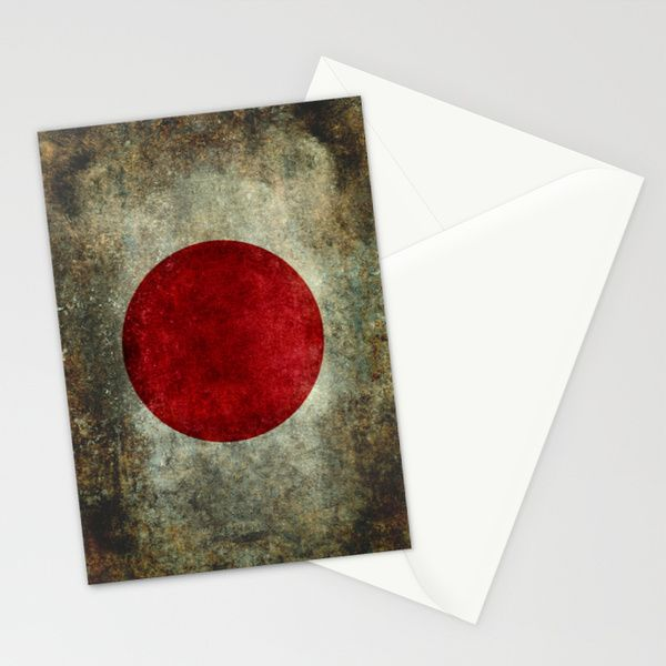 The national flag of Japan Stationery Cards by LonestarDesigns2020 - Flags Designs + | Society6