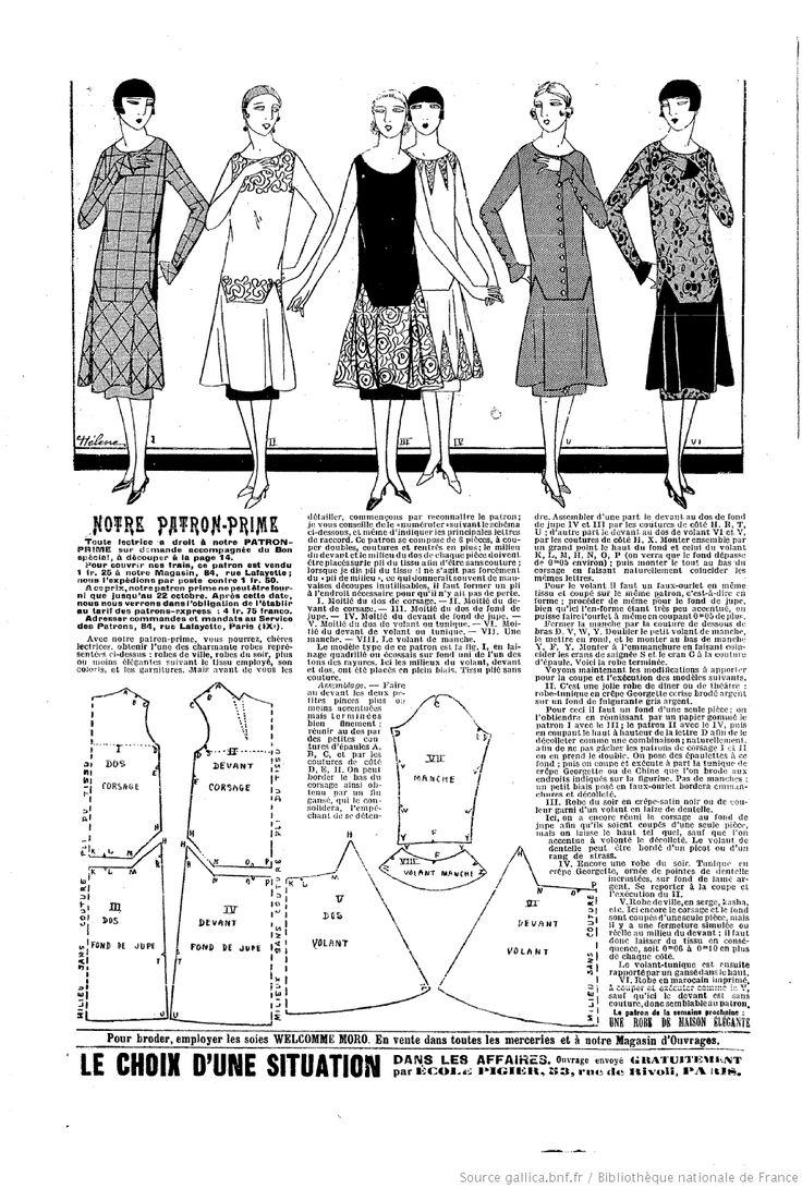 La Mode du jour. 1925/10/15