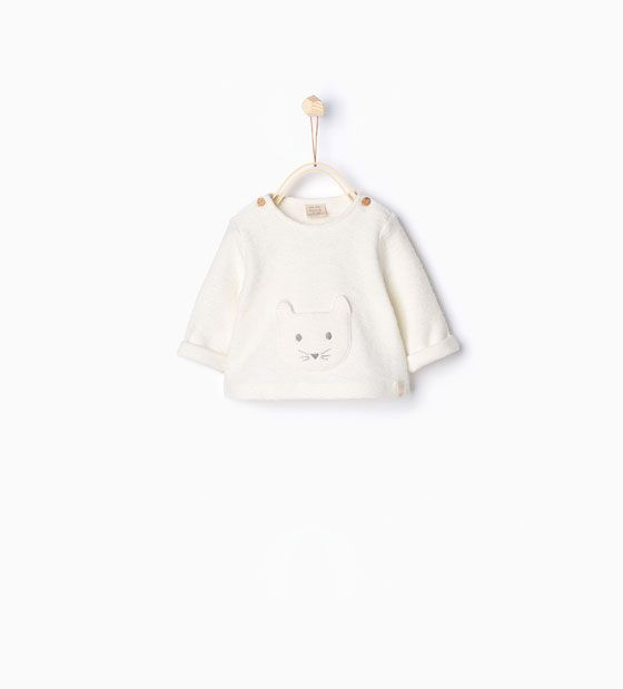 Image 1 of Organic cotton sweatshirt from Zara