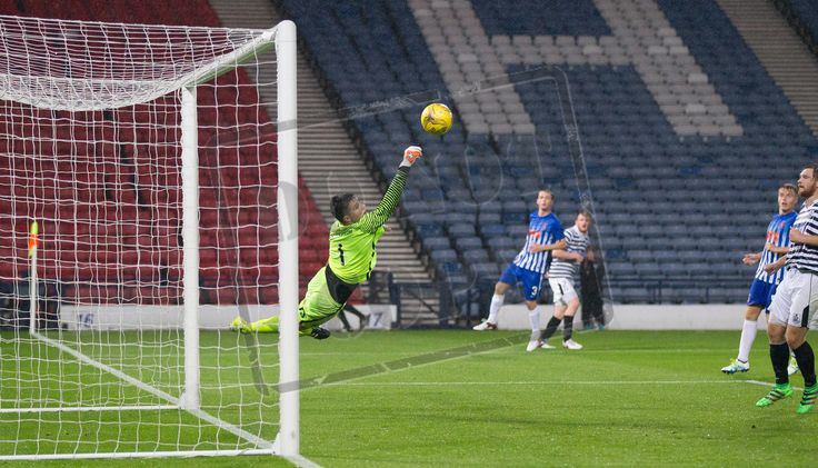 Kilmarnock's keeper Ross Miller in action during the IRN-BRU Cup game between Queen's Park and Kilmarnock Colts