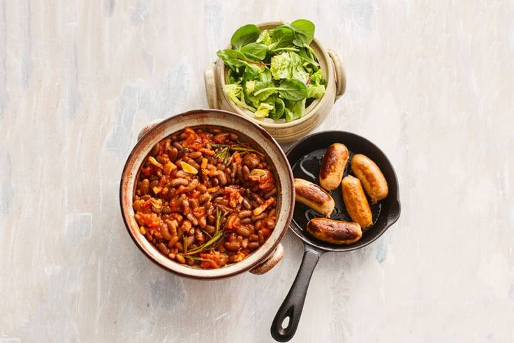 Kijk wat een lekker recept ik heb gevonden op Allerhande! Bruine bonen met spek in tomatensaus