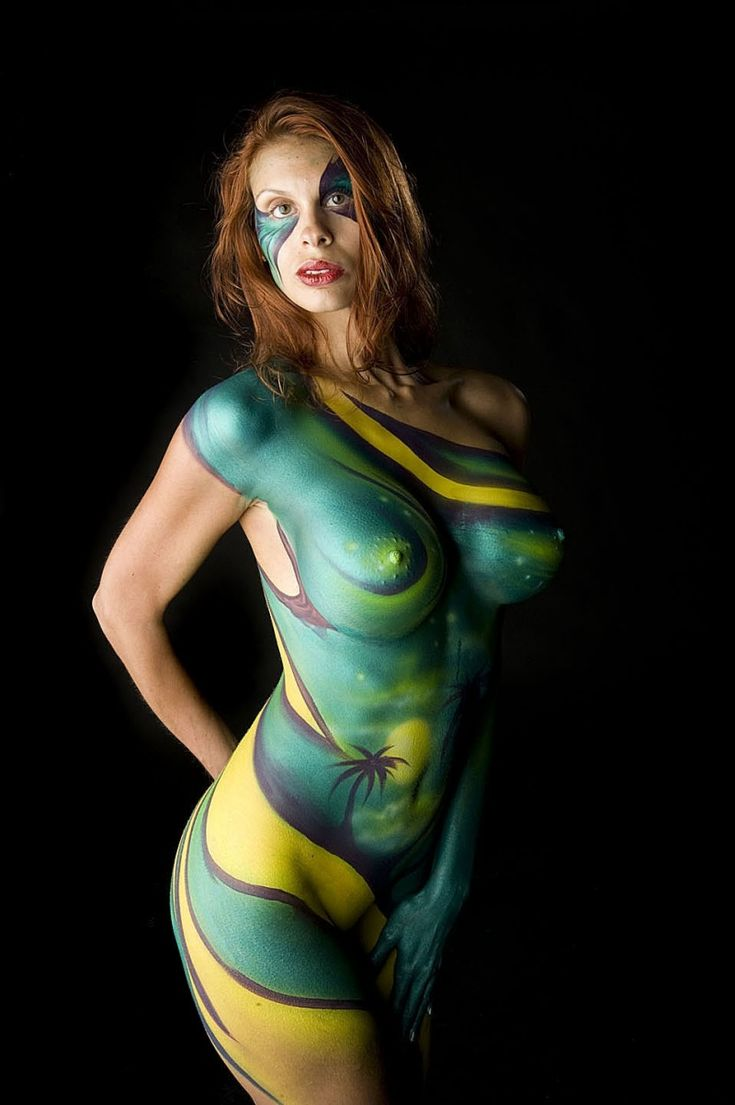 Nude body painting photography