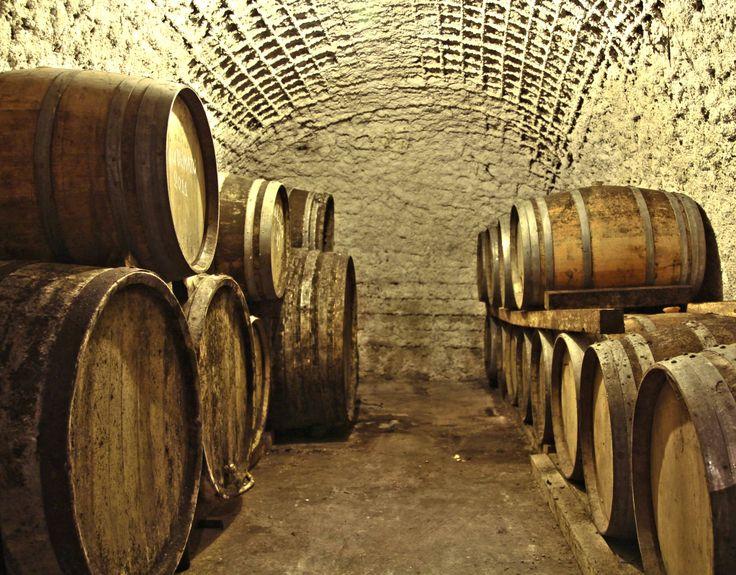 Domaine Hatzidakis Cellar, Wooden Barrels, Santorini, Greece