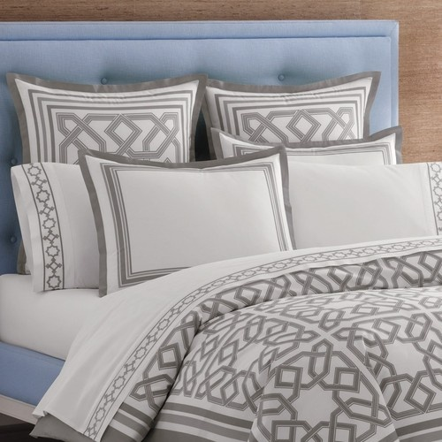 Jonathan Adler Bedding Parish Gray Duvet Cover Or Set - contemporary - duvet covers - Layla Grayce
