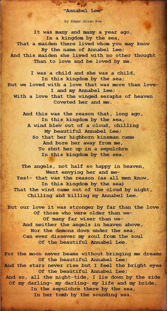 Annabel Lee - Edgar Allan Poe | Live and Learn | Pinterest
