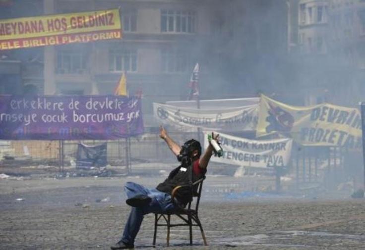 Taksim Gezi Parkı olaylarında yaşanan en çarpıcı kareler...