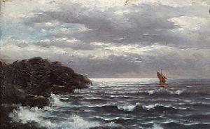 En stille dag på havet, 1883 / Jule Auksjon 2010 / Kunsthandel - Blomqvist…