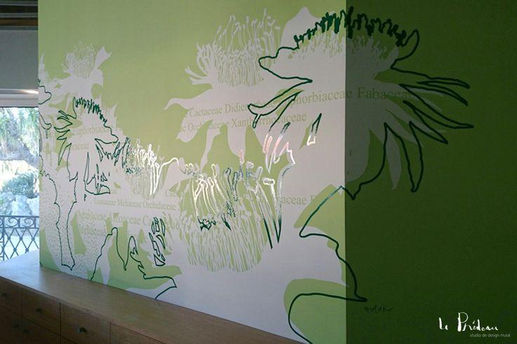 Cr ation de design mural pour la boutique du jardin exotique de monaco design mural by le - La boutique du jardin ...