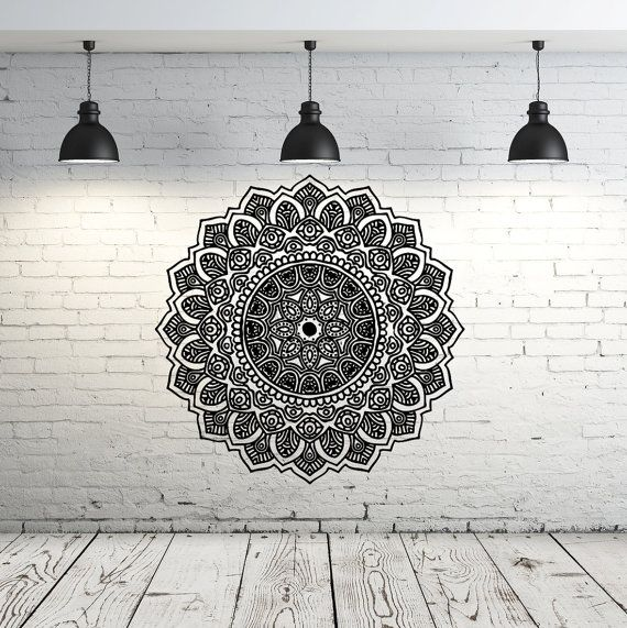 Mandala Wall Decal Yoga Studio Vinyl Sticker by IncredibleDecals                                                                                                                                                                                 More