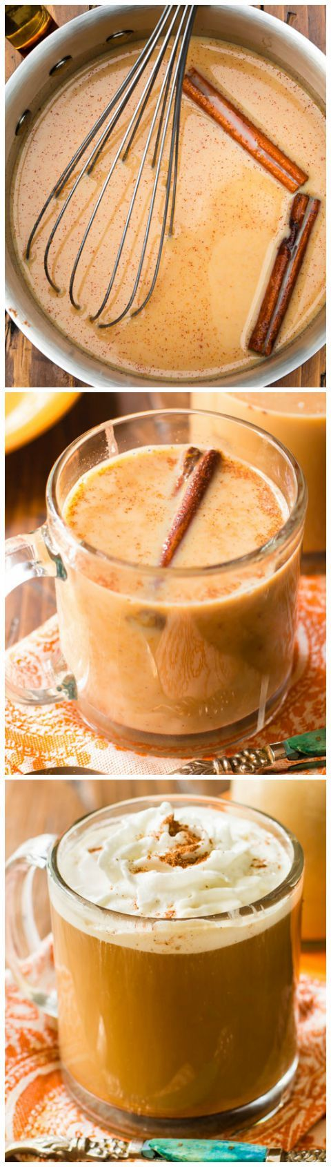 Homemade pumpkin coffee creamer made in 15 minutes with REAL pumpkin puree. Inexpensive and easy!! (Fall pumpkin desserts, drinks, recipes)